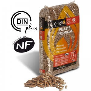Sac de 15 kg de granulés bois Crépito